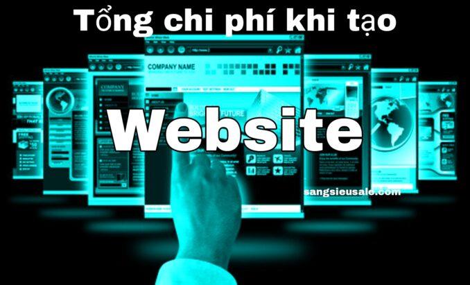 chi phí thiết kế và tạo website là bao nhiêu